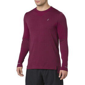 asics Seamless LS Shirt Men cordovan